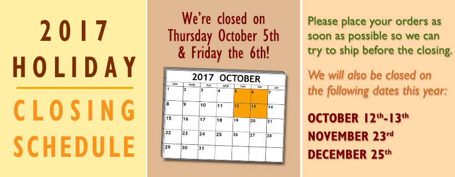 fall holiday schedule